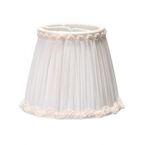 Mažas modernus baltos spalvos gaubtelis